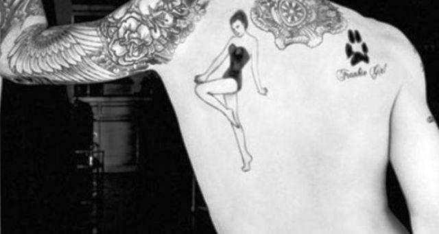 Adam Levine tattoo Paw Print